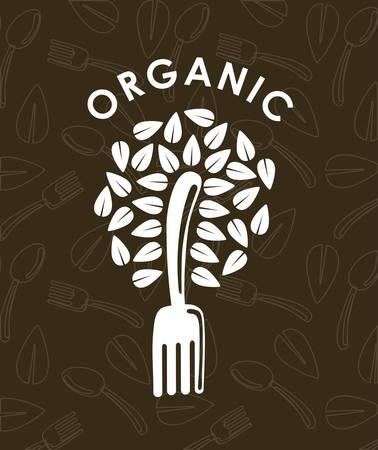 concept d'aliment biologique avec sain icône alimentaire conception, illustration vectorielle 10 eps graphique.