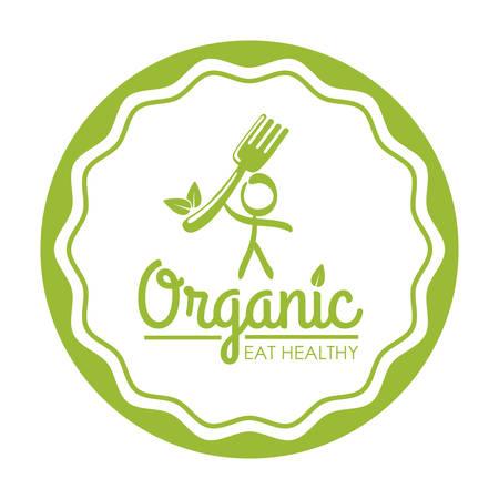 Biologisch voedsel concept met gezond voedsel pictogram ontwerp, vector illustratie 10 eps grafische.