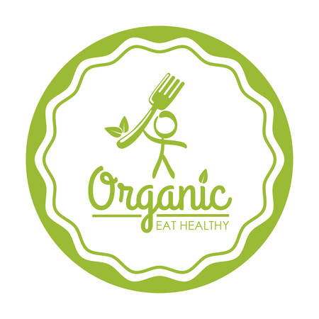 Organic food concept with healthy food icon design, vector illustration 10 eps graphic.