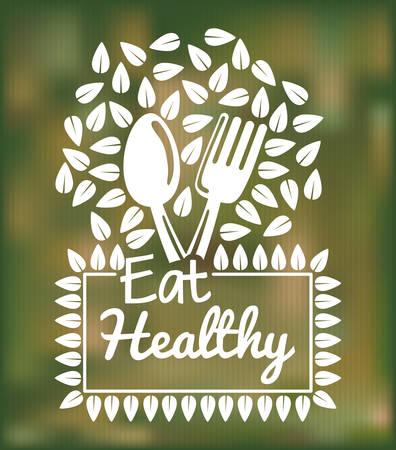 Biologisch voedsel concept met gezond voedsel pictogram ontwerp, vector illustratie 10 eps grafische. Vector Illustratie