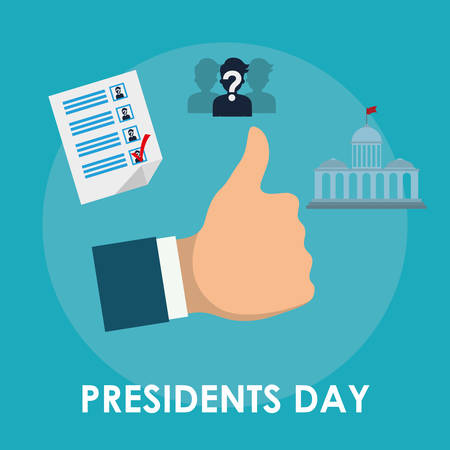 presidential: Presidents day concept with icon design, vector illustration 10 eps graphic. Illustration