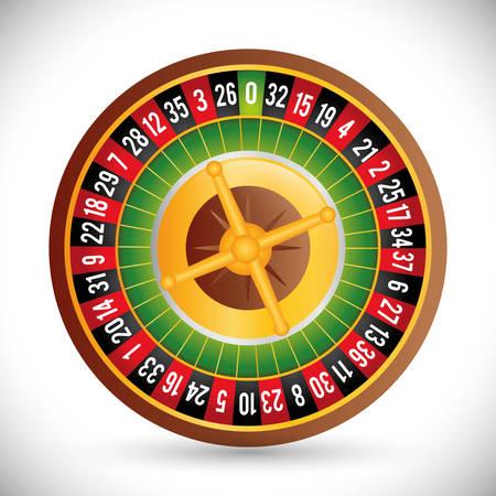 losing money: Casino concept with las vegas icon design, vector illustration 10 eps graphic.