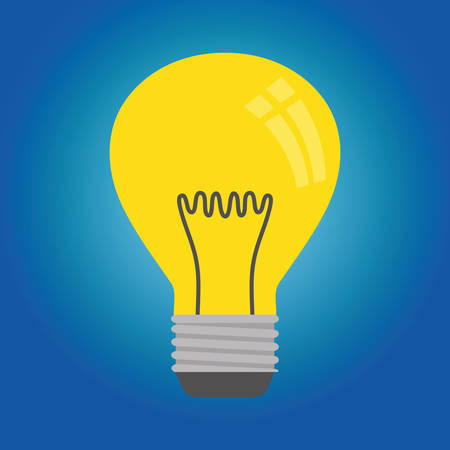 individuality: Idea concept with light bulb icon design, vector illustration 10 eps graphic.