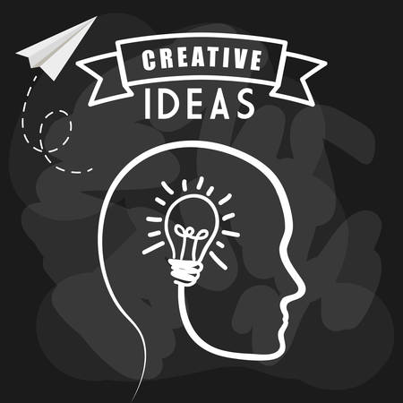 different thinking: Idea concept with light bulb icon design, vector illustration 10 eps graphic.