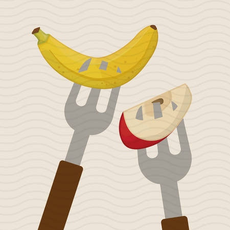 market gardening: fruit concept with icon design, vector illustration 10 eps graphic.