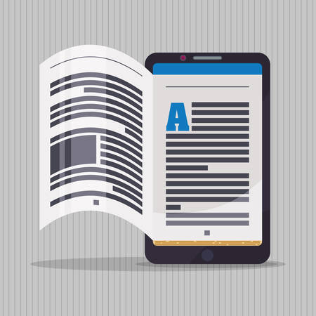 elearning: Ebook concept with book icon design, vector illustration 10 eps graphic.