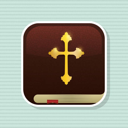 conception: Holy bible concept with book icon design, vector illustration 10 eps graphic.