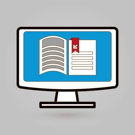 e book reader: Ebook concept with book icon design, vector illustration 10 eps graphic.
