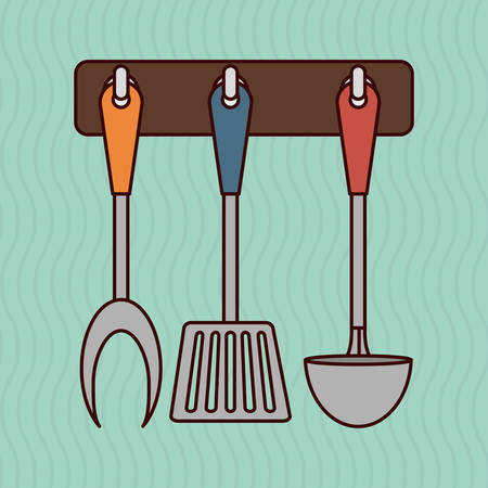 kitchen utensil: Kitchen concept with supplies icon design, vector illustration 10 eps graphic. Illustration