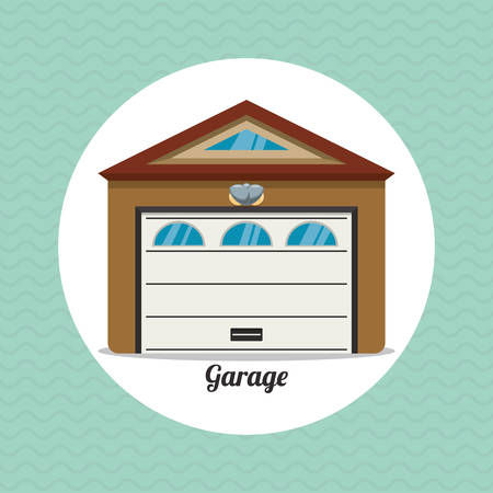 sell car: garage concept with icon design, vector illustration 10 eps graphic. Illustration