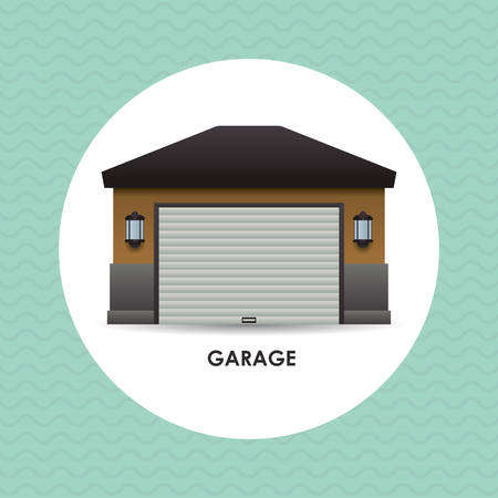 renting: garage concept with icon design, vector illustration 10 eps graphic. Illustration
