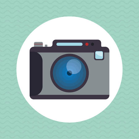 capturing: Camera concept with icon design, vector illustration 10 eps graphic. Illustration