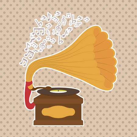 gramaphone: music concept with icon design, vector illustration 10 eps graphic.