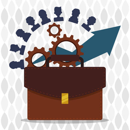 employee development: human resources concept with icon design, vector illustration 10 eps graphic.