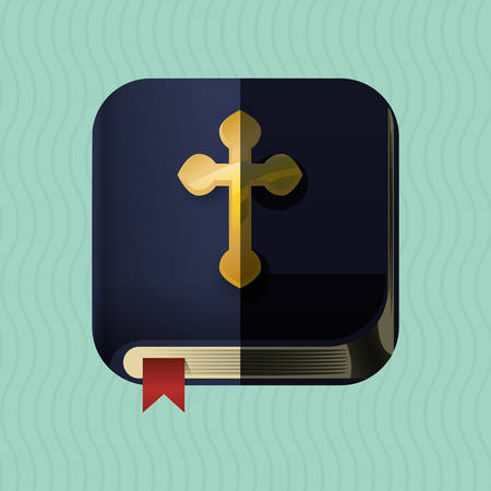 bible book: Holy bible concept with book icon design, vector illustration 10 eps graphic.