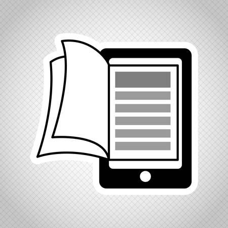 e reader: Ebook concept with book icon design, vector illustration 10 eps graphic.