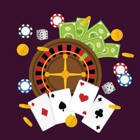 item icon: Casino concept with las vegas item icon design, vector illustration 10 eps graphic.