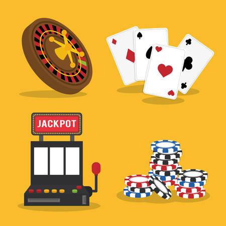 item icon: Casino concept with las vegas item icon design