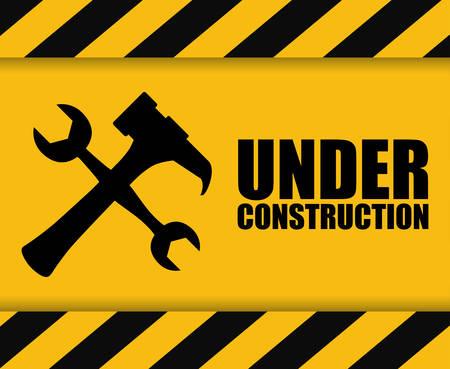 Under construction concept with icon design Vetores