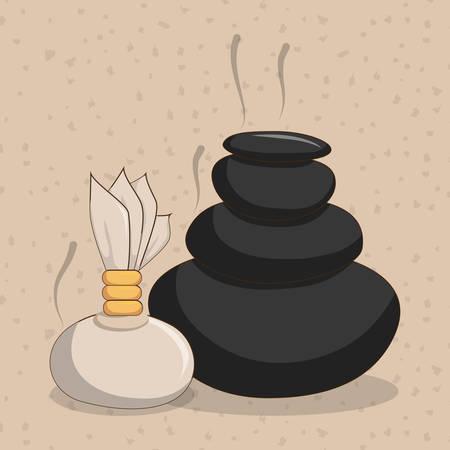 bath treatment: Spa center concept with icon design Illustration