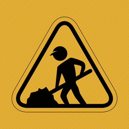 under construction sign with man: Under construction concept with icon design, vector illustration 10 eps graphic.