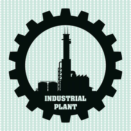 petrochemical plant: Industrial plant concept with icon design, vector illustration 10 eps graphic. Illustration