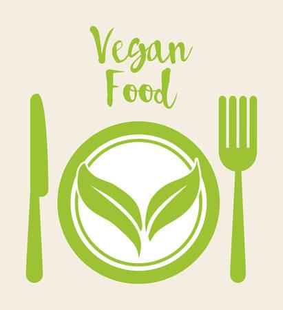 crop circle: Vegan concept with icon design