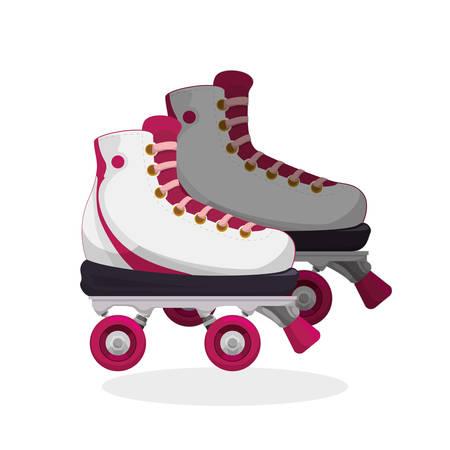 concepto de patinaje sobre ruedas con el diseño de iconos