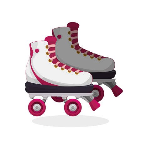 roller skating: Roller skating concept with icon design