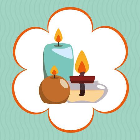 retreat: Spa center concept with icon design Illustration