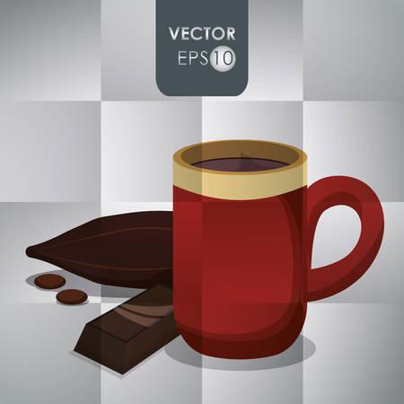 chocolate truffle: Chocolate concept with menu icon design