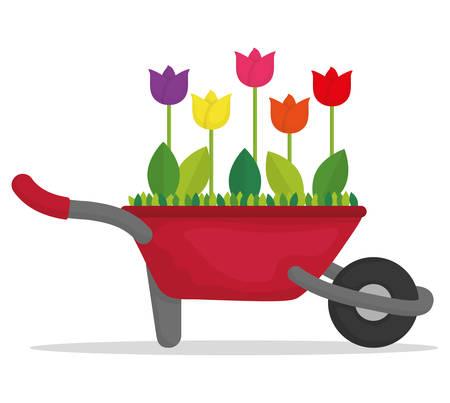 Tuinieren concept met pictogram ontwerp, vector illustratie 10 eps grafische. Vector Illustratie