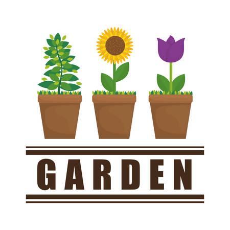 botanical garden: Gardening  concept with icon design, vector illustration 10 eps graphic. Illustration