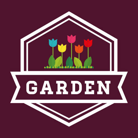 landscaped garden: Gardening  concept with icon design, vector illustration 10 eps graphic. Illustration