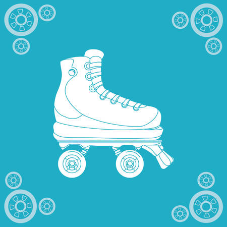 clip art feet: Roller skating concept with icon design, vector illustration 10 eps graphic.