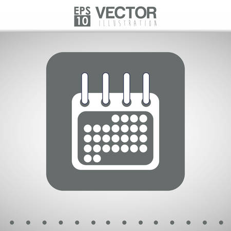 ring binder: icon concept with calendar icon design, vector illustration 10 eps graphic. Illustration