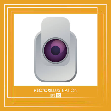 value system: Security system concept with camera icon design, vector illustration 10 eps graphic.