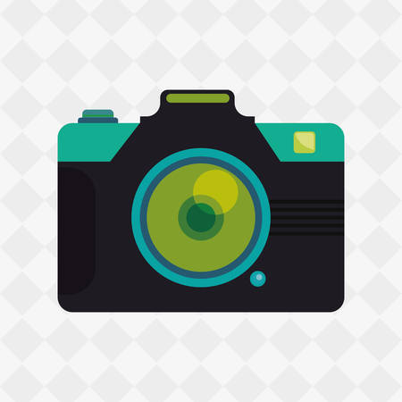 digicam: Camera concept with icon design, vector illustration 10 eps graphic. Illustration