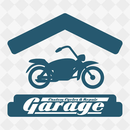selling service: garage concept with icon design, vector illustration 10 eps graphic. Illustration