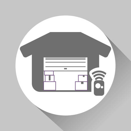 image consultant: garage concept with icon design, vector illustration 10 eps graphic. Illustration