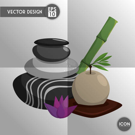 alternative rock: Spa center concept with icons design, vector illustration 10 eps graphic.