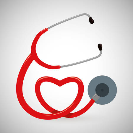 heart symbol: Medical care concept with icon design, vector illustration 10 eps graphic.