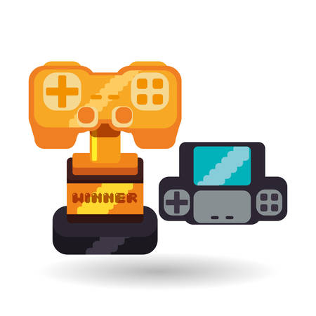 videogame: Videogame concept with icon design, vector illustration 10 eps graphic.