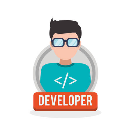 Development and software concept with icon design, vector illustration 10 eps graphic.