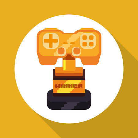 obsession: Videogame concept with icon design, vector illustration 10 eps graphic.