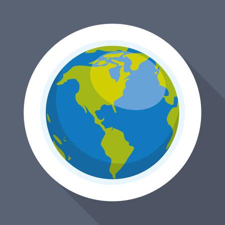 concetto del pianeta con l'icona di design, illustrazione vettoriale 10 eps grafica. Vettoriali
