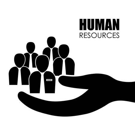 le concept des ressources humaines avec l'icône de conception, illustration vectorielle 10 eps graphique.