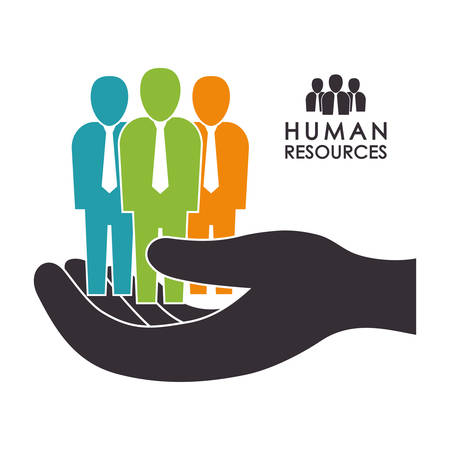 job search: Human resources concept with icon design, vector illustration 10 eps graphic.