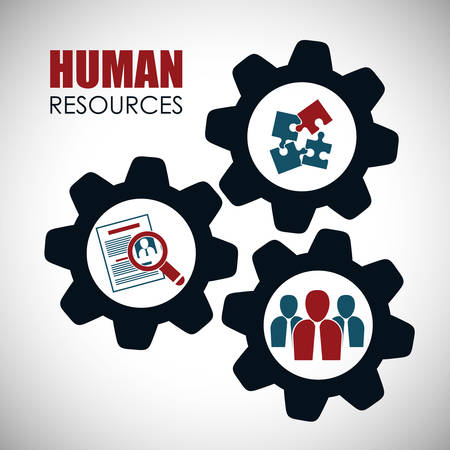 Human resources concept with icon design, vector illustration 10 eps graphic.