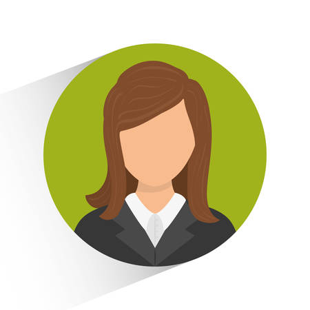 female symbol: Human resources concept with icon design, vector illustration 10 eps graphic.